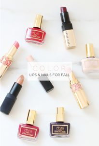 lips and nails for fall
