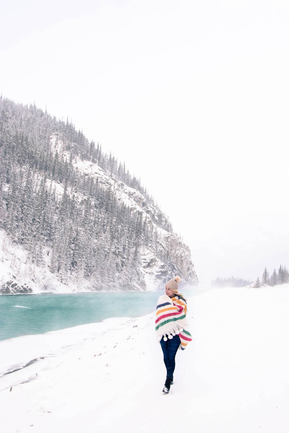 Spray Lakes Alberta Monika Hibbs Snowy Day