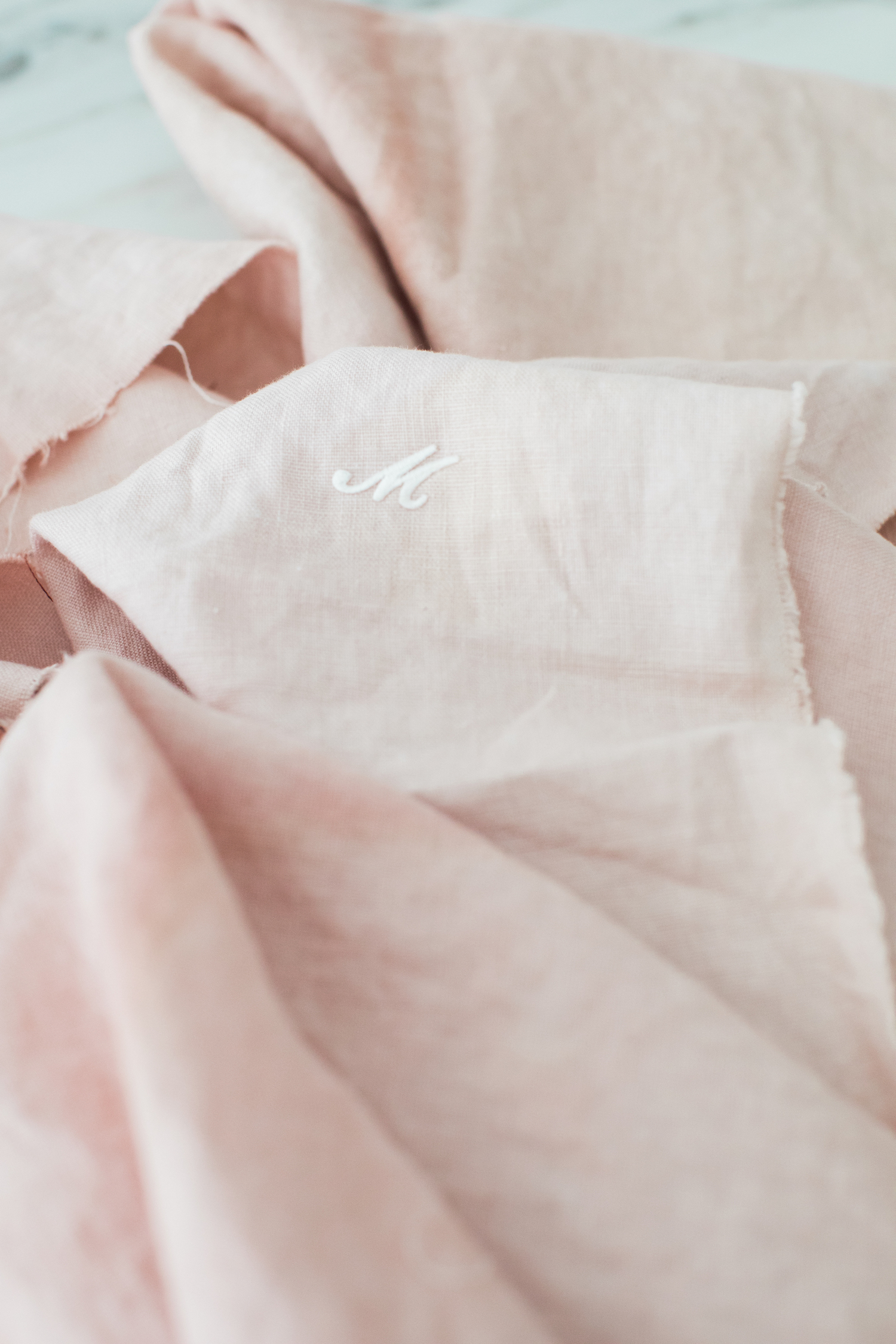 natural dyed linens