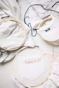 hello, heart, and xo embroidered t-shirts
