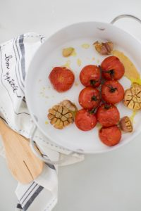 roasted tomatoes with garlic and oil