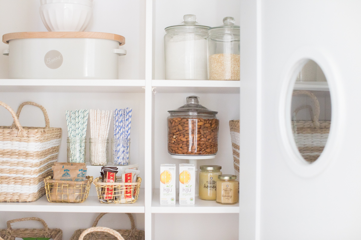 organized walk in pantry
