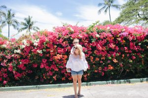 Flower wall in hawaii