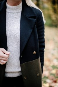 Fall Sequin Marks & Spencer Sweater and coat