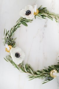 Olive wreath with candles