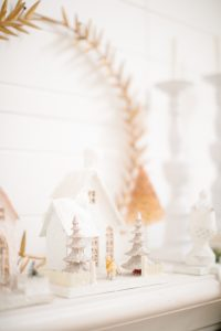 mantel with glitter homes