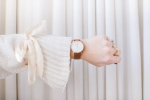 watch with bell sleeve