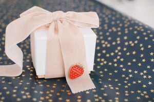box wrapped with bow