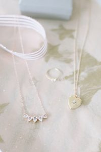 necklaces on star tissue paper