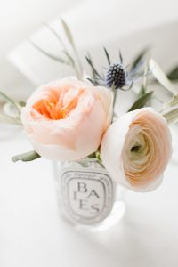 bud vase with florals