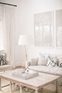living room with neutral colours