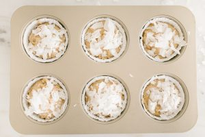 over top of muffins in tin