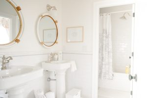 jack and jill bathroom with shower in separate room