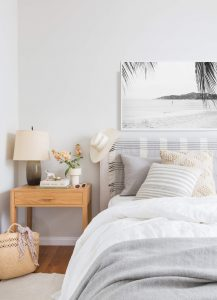 coast bedroom with greys