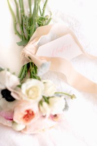 bouquet laying down