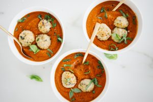 Turkey meatballs in tomato soup