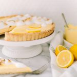 Lemon meringue tart, and curd