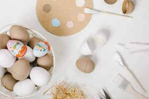 DIY suplies for easter eggs