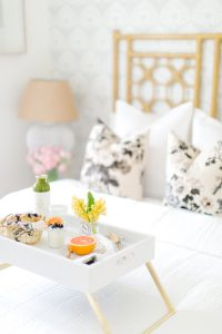 airy Guest bedroom with breakfast in bed