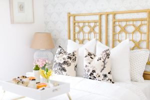 airy white guest room