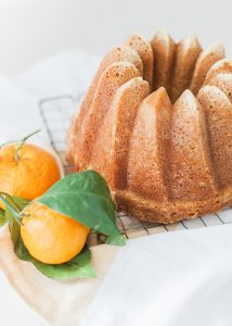 bundt cake on cooling rack
