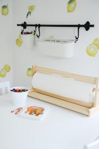 Kids art station with paper roll
