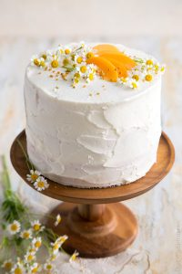 pretty cake with apricot