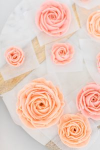 pink and blush buttercream roses