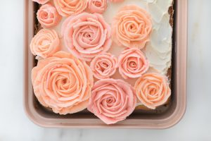 pink and blush butter cream roses