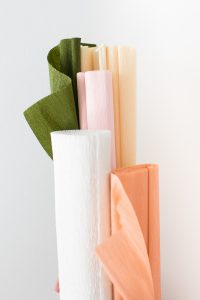 crepe paper rolled up