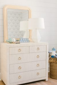 grasscloth dresser in nursery