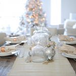 Christmas table scape