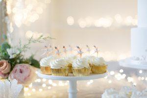 Swan lake birthday cupcakes