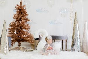 Swan lake first birthday party photo booth