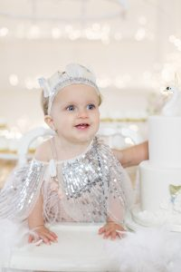 baby girl's first birthday party swan lake
