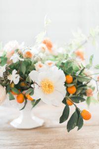 white flowers with orange buds