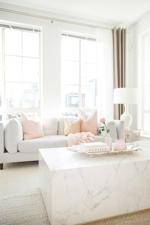 Mosaic Homes Monika Hibbs Marble coffee table