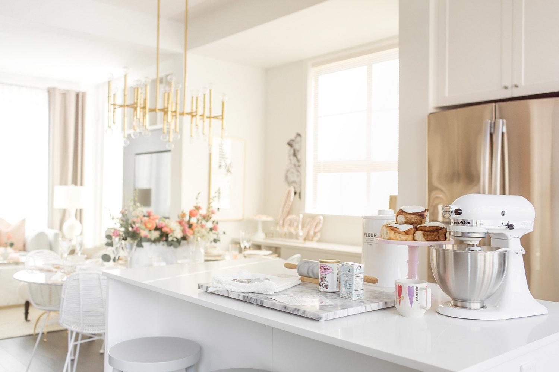 White Kitchen Gold Monika Hibbs