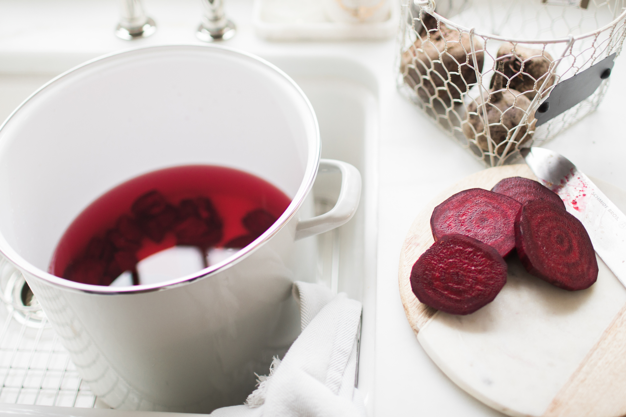 natural linens dyed with beets