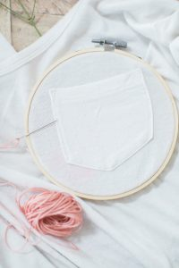 how to set your t-shirt in a embroidery hoop