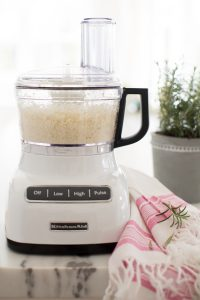 rice in food processor