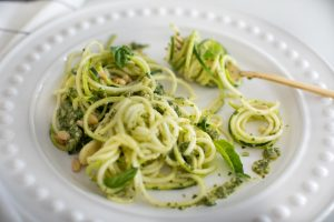 dinner plate with zucchini noodles