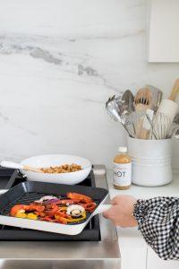 fry pan on stove
