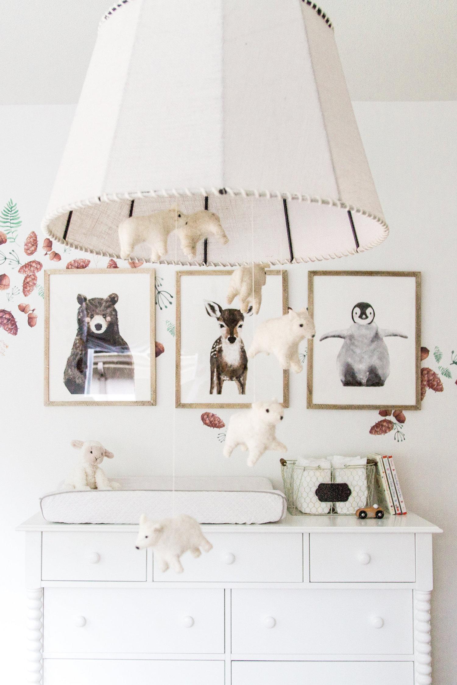 Gallery Wall Animals Boy Nursery