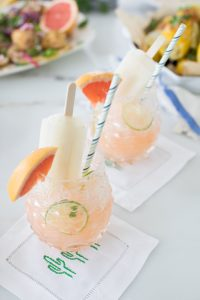 two grapefruit lime refreshers