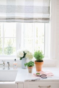 kitchen window with potted plants