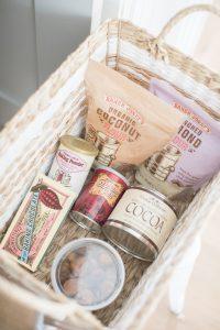 basket of baking supplies