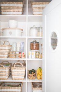 organized walk in pantry