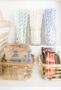 straws in glass jars