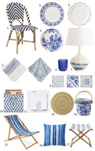 Blue and white home trend